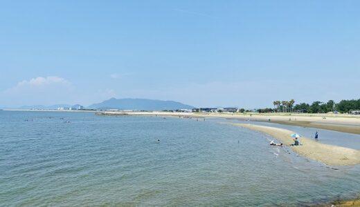 一の宮海水浴場 きれいな砂浜の遠浅の海岸 ビーチ 観音寺市
