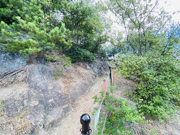 重岩不動石鎚神社から重岩への道入り口