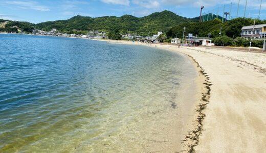 土庄鹿島海水浴場 土庄港からすぐのキレイなビーチ 小豆島