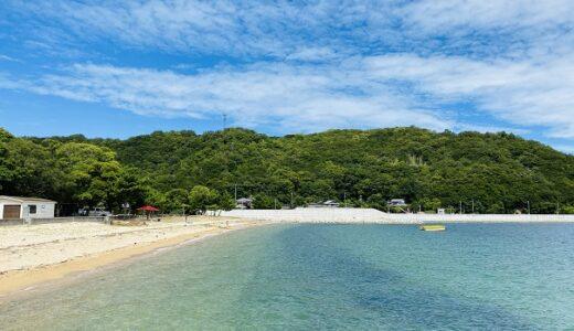 田井浜海水浴場 キャンプ場 トイレとシャワー完備 小豆島