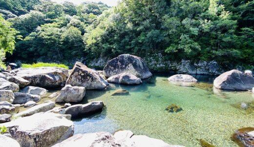 くじら岩 山河内谷川と日和佐川で川遊び 大岩から飛び込み 美波町