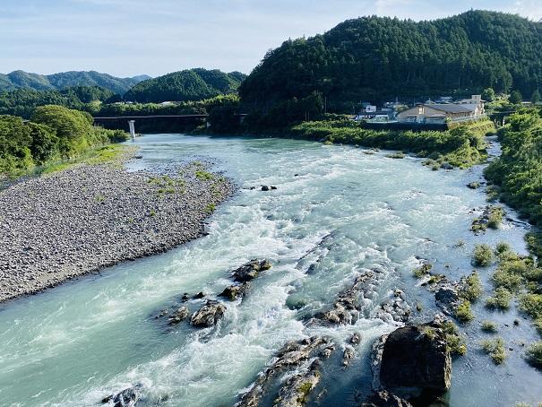 流れのある那賀川