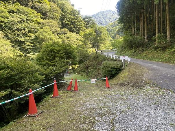 瀬戸川渓谷 トイレへの道