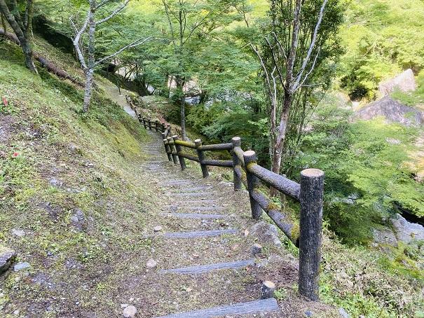 瀬戸川渓谷 最後の階段