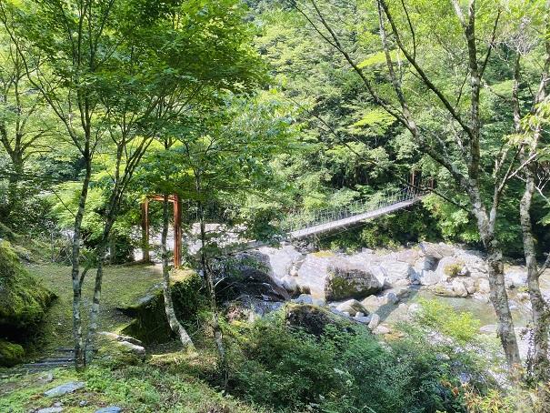 瀬戸川渓谷 吊り橋