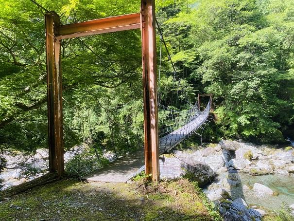 瀬戸川渓谷 ぶらぶら橋