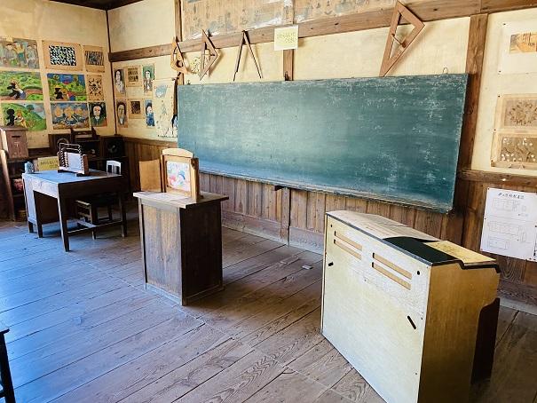 岬の分教場 1・2年教室黒板