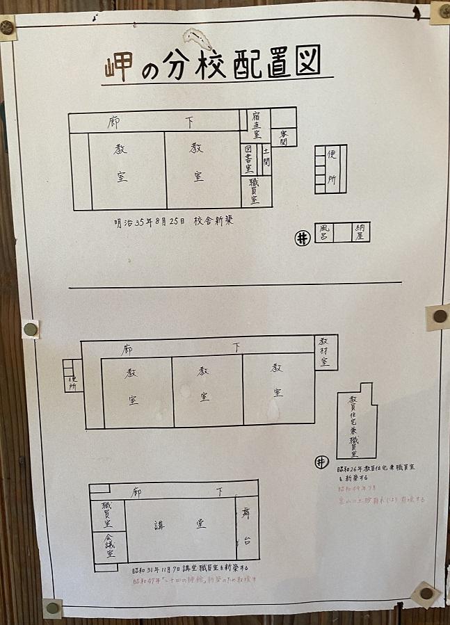 岬の分教場 案内図