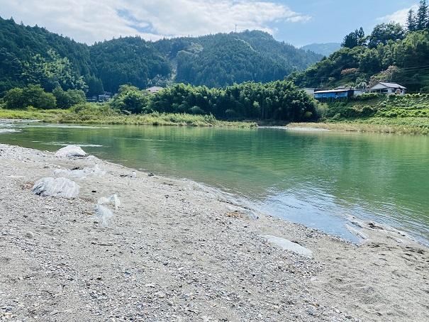 帰全山公園 遊泳禁止吉野川