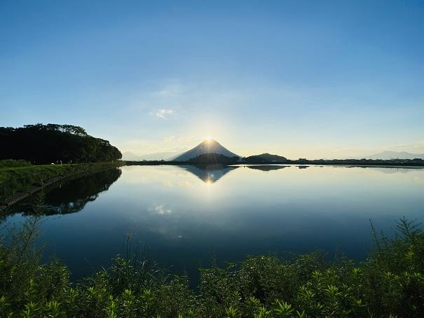 晴れた日ダブルダイヤモンド讃岐富士