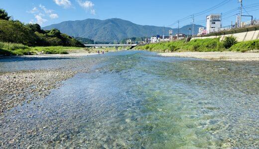 知清公園キャンプ場 料金は無料 小田川で川遊び 内子町