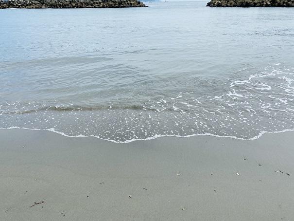 大毛海岸 きれいな水質