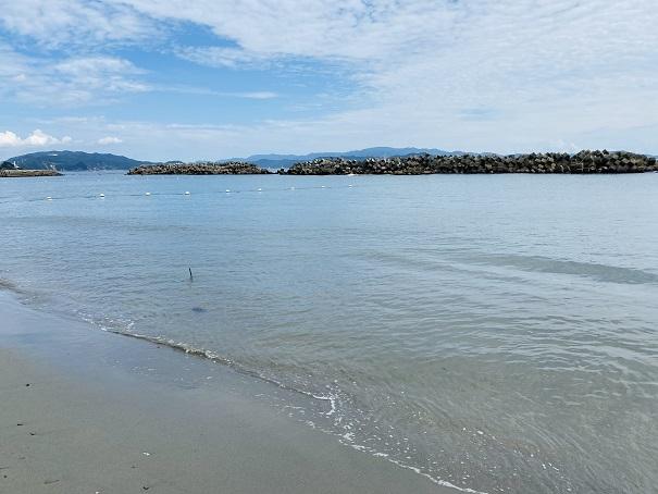 大毛海岸 海の水