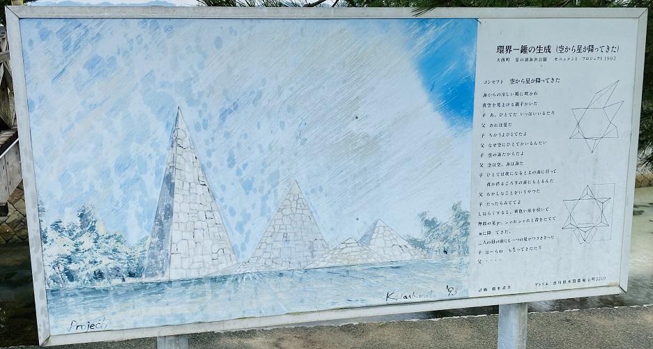 星の浦海浜公園 モニュメント看板