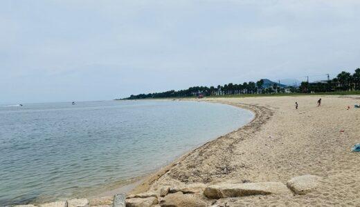 織田ヶ浜海水浴場 海の水も砂浜もキレイな海水浴場 今治市