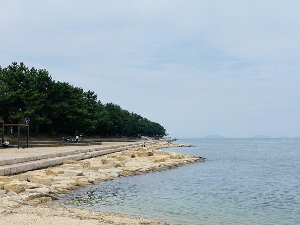 織田ヶ浜海水浴場 釣り場