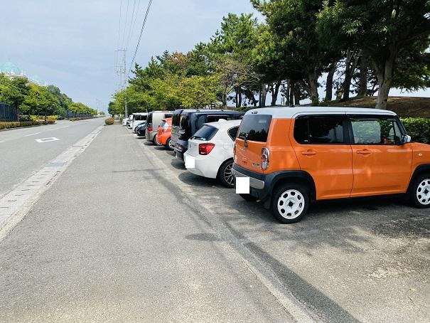 織田ヶ浜海水浴場 駐車場