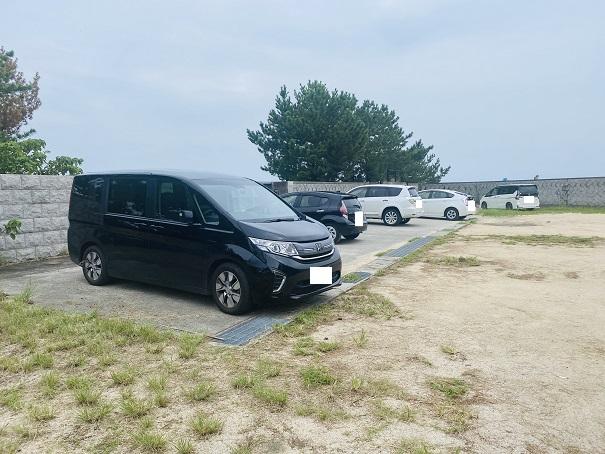 志島ヶ原海岸公園 駐車場