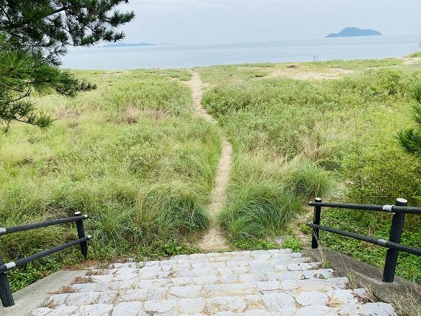 志島ヶ原海岸公園 海岸まで