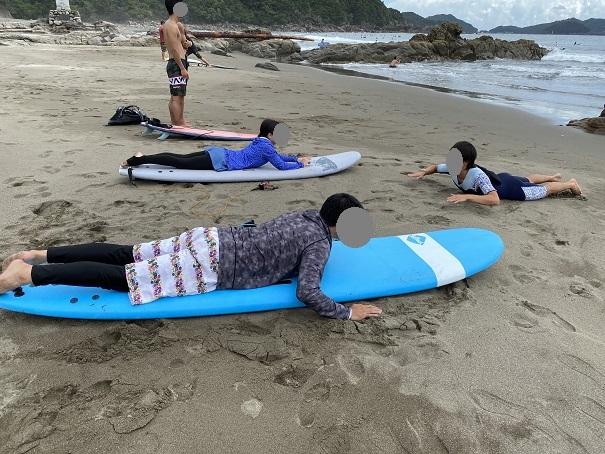 サーフィンスクール体験 準備