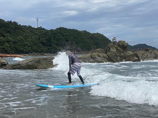 サーフィンスクール大人体験 テイクオフ