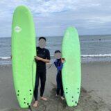 ソフテックサーフボード サーフィンスクール体験2回目