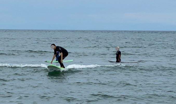 2度目のサーフィンスクール体験2回目
