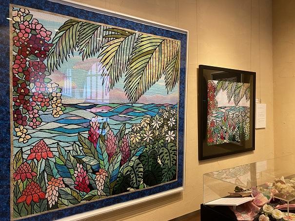 タオル美術館 キャシー中島 絵画のキルト