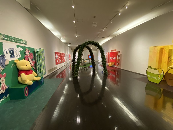 タオル美術館 プーさんの企画展