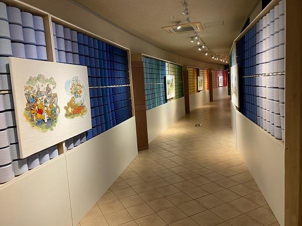 タオル美術館 糸巻の廊下