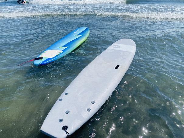 ソフテック 浮かべたサーフボード