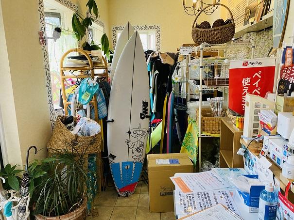 民宿&レストランみちしお サーフボード
